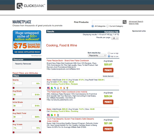clickbank marketplace